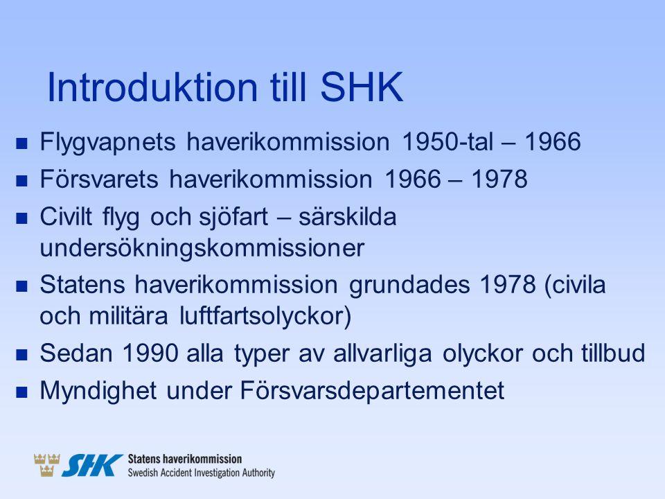 Introduktion till SHK Flygvapnets haverikommission 1950-tal – 1966