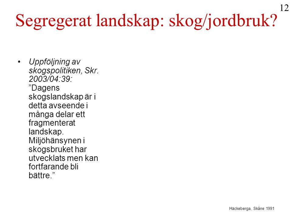 Segregerat landskap: skog/jordbruk