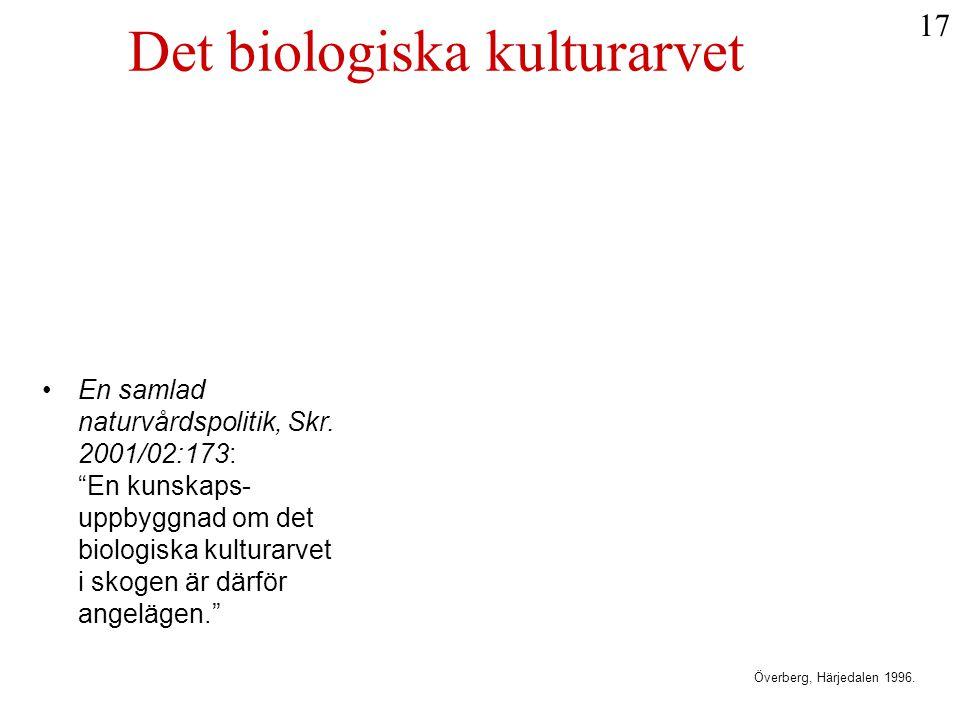 Det biologiska kulturarvet