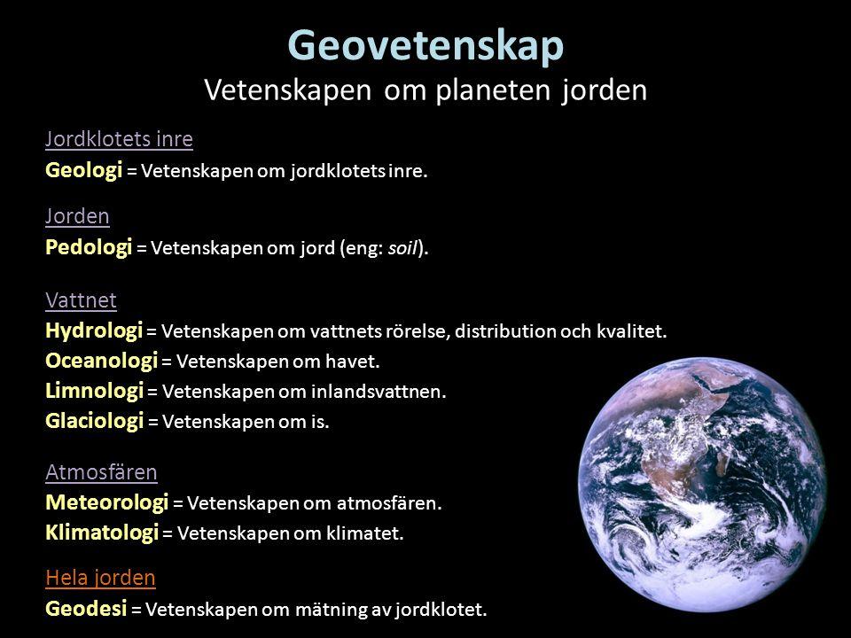 Vetenskapen om planeten jorden
