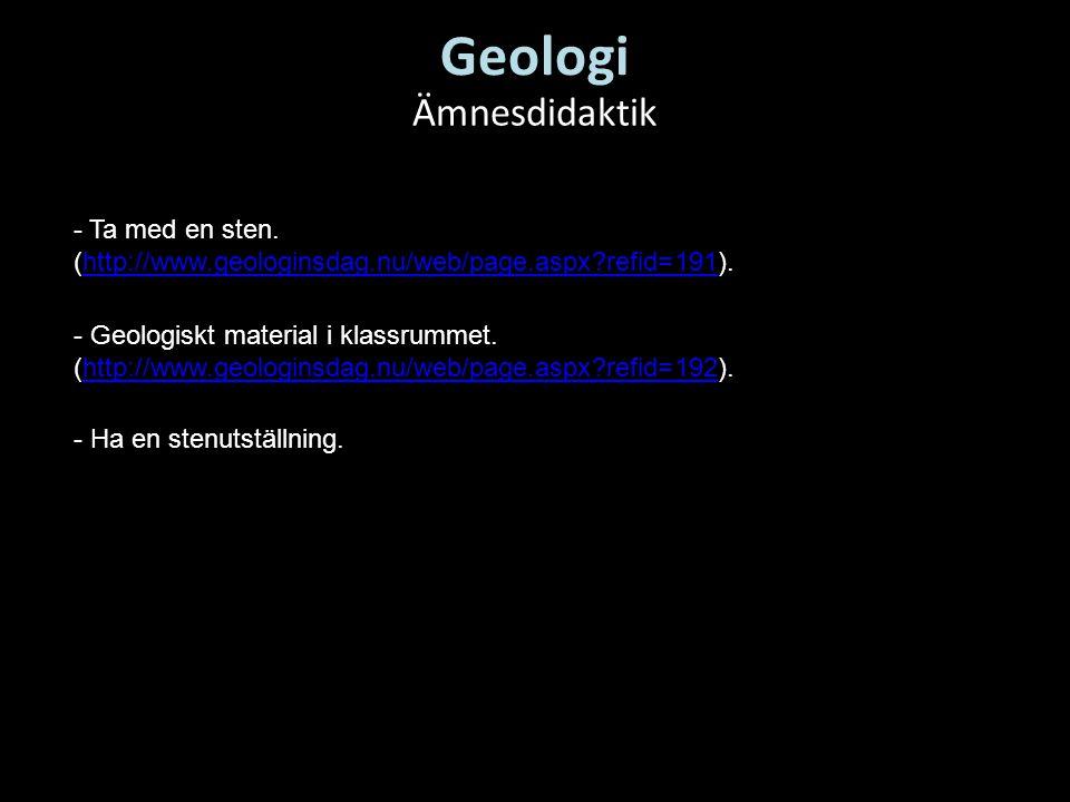 Geologi Ämnesdidaktik