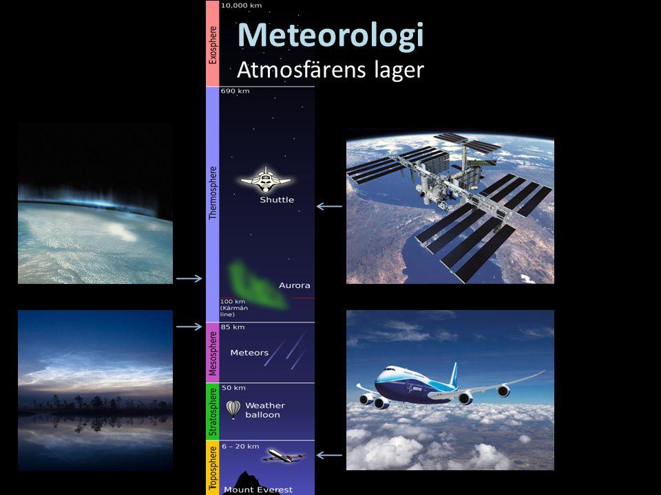 Meteorologi Atmosfärens lager