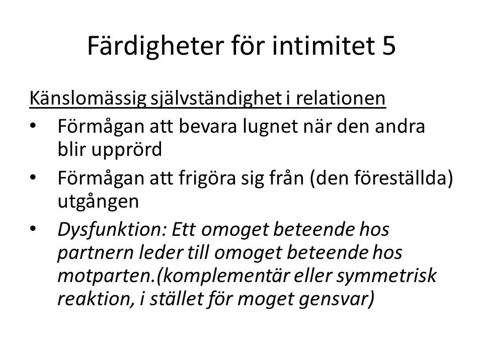 Färdigheter för intimitet 5