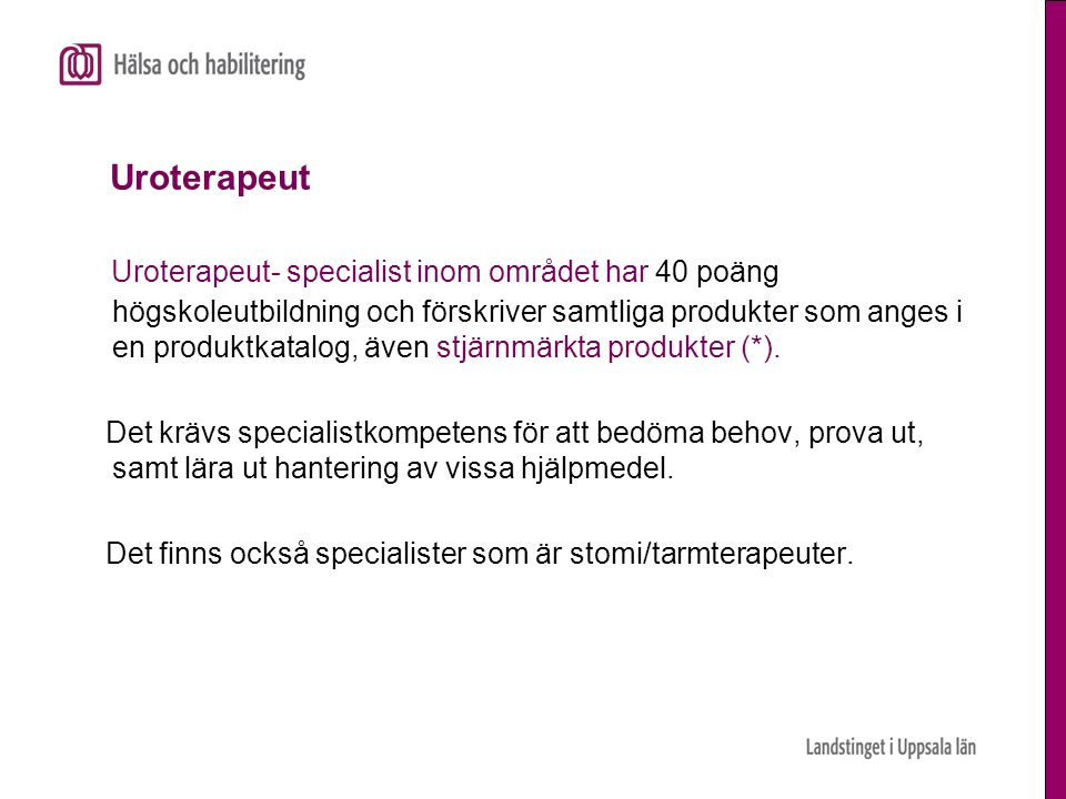 Uroterapeut