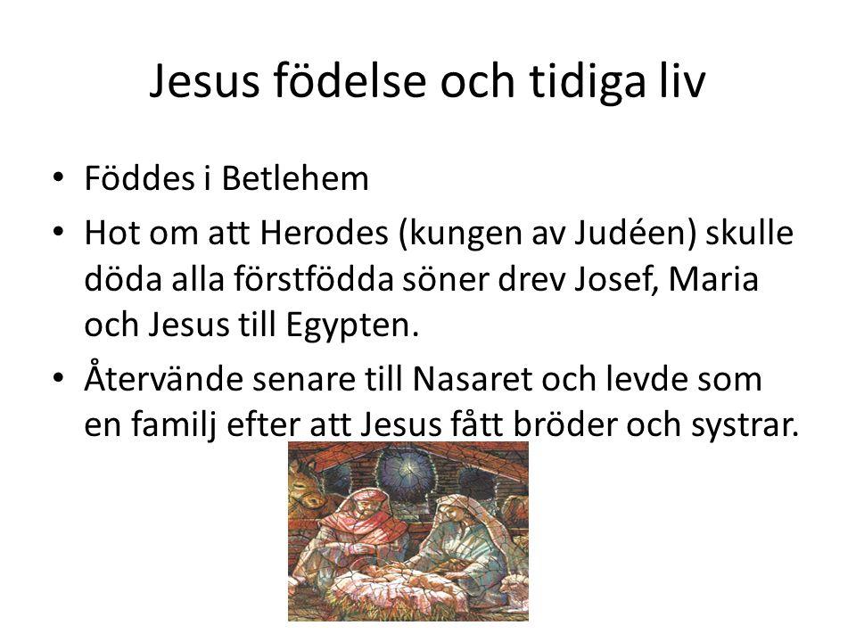 Jesus födelse och tidiga liv
