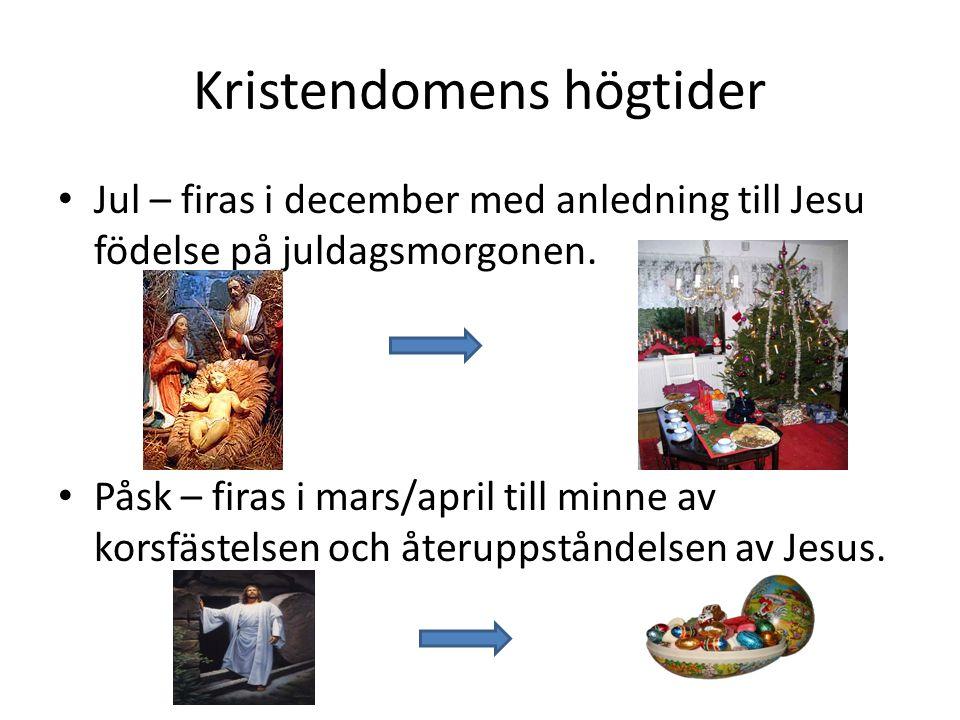 Kristendomens högtider