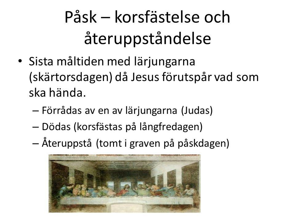 Påsk – korsfästelse och återuppståndelse