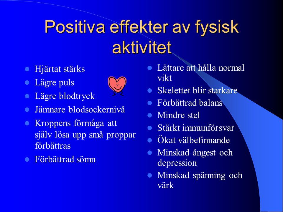 Positiva effekter av fysisk aktivitet