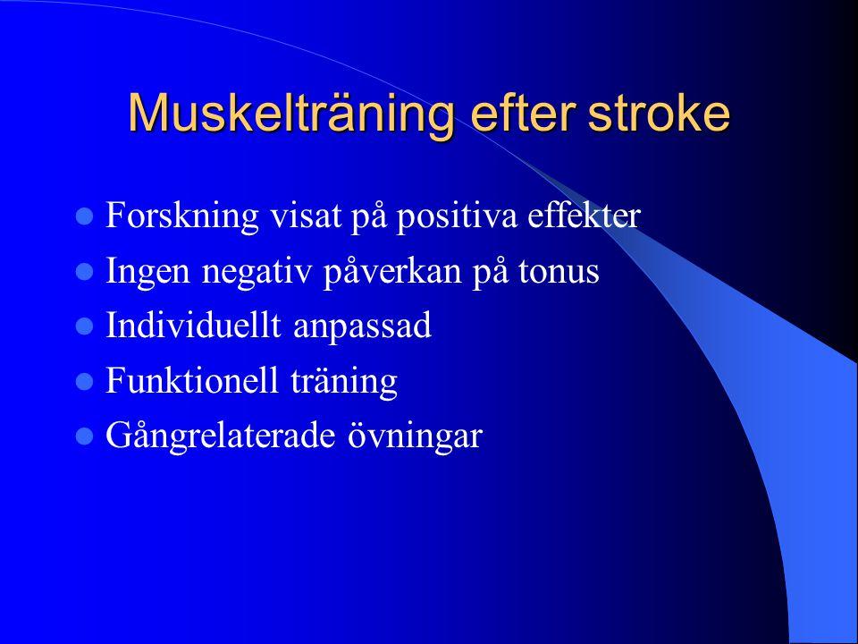 Muskelträning efter stroke