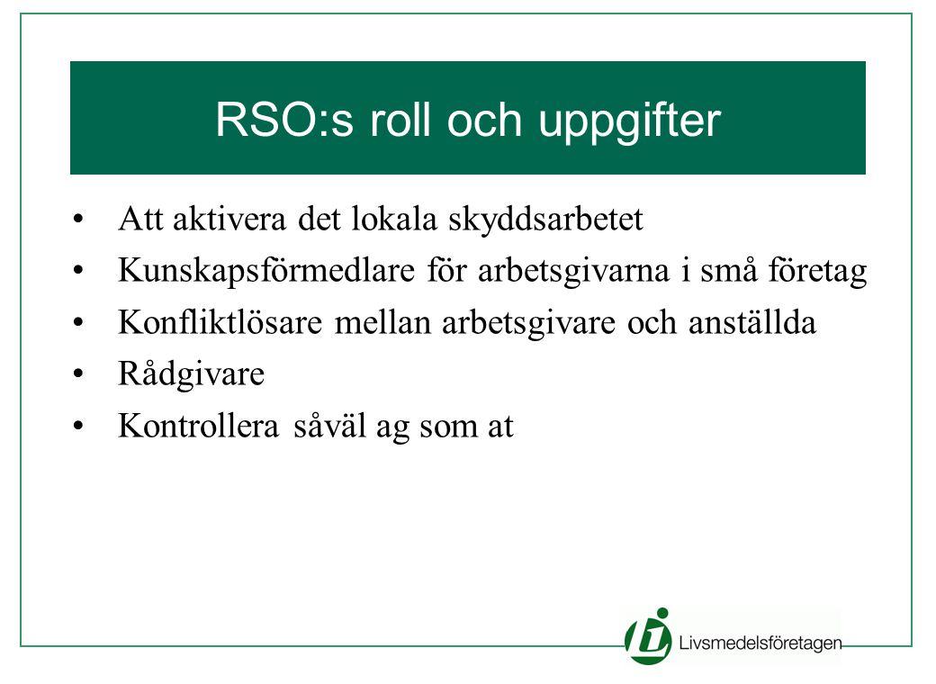 RSO:s roll och uppgifter