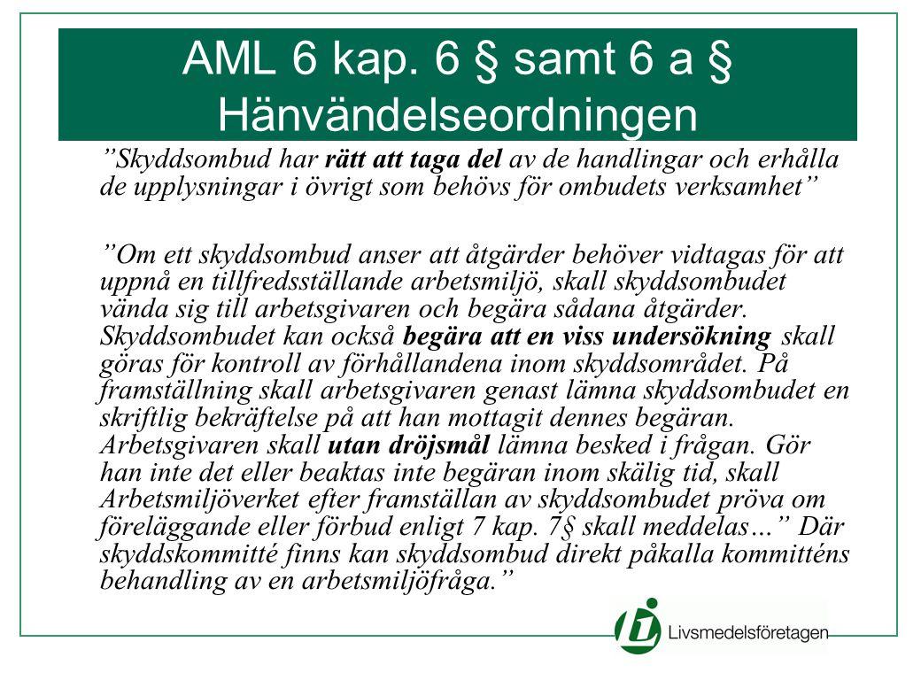 AML 6 kap. 6 § samt 6 a § Hänvändelseordningen