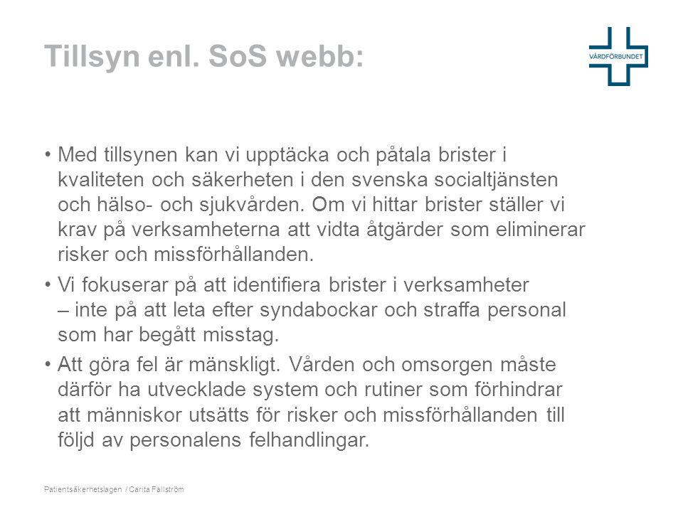 Tillsyn enl. SoS webb: