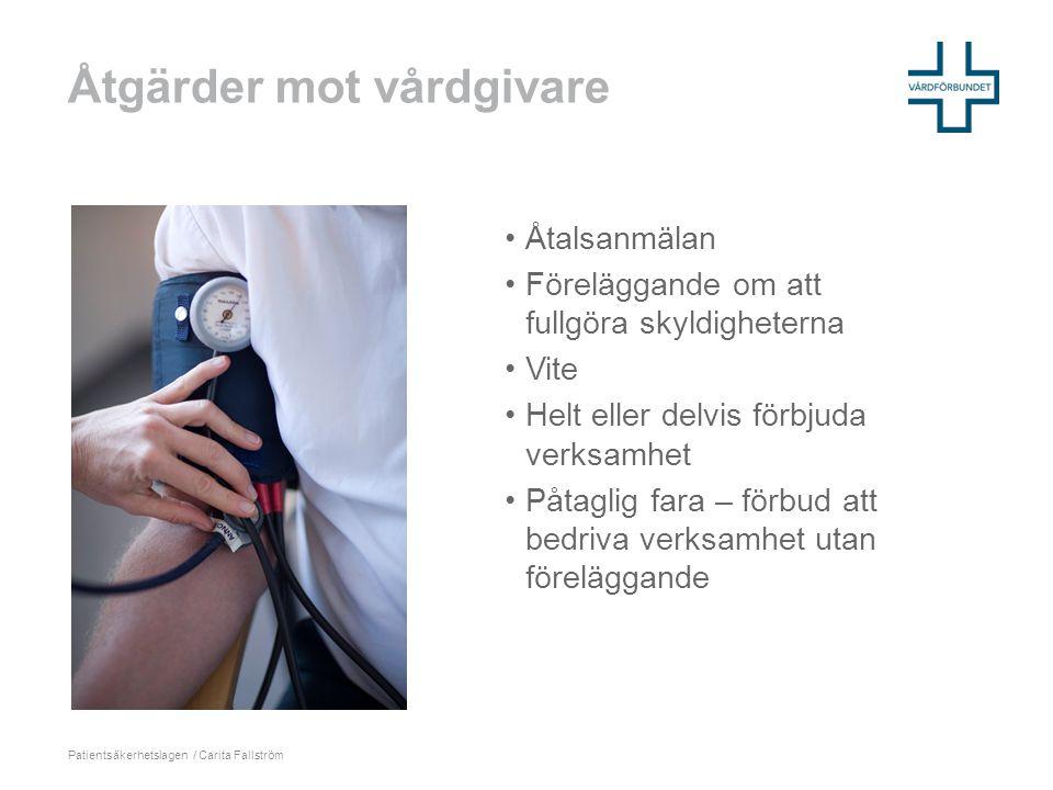 Åtgärder mot vårdgivare