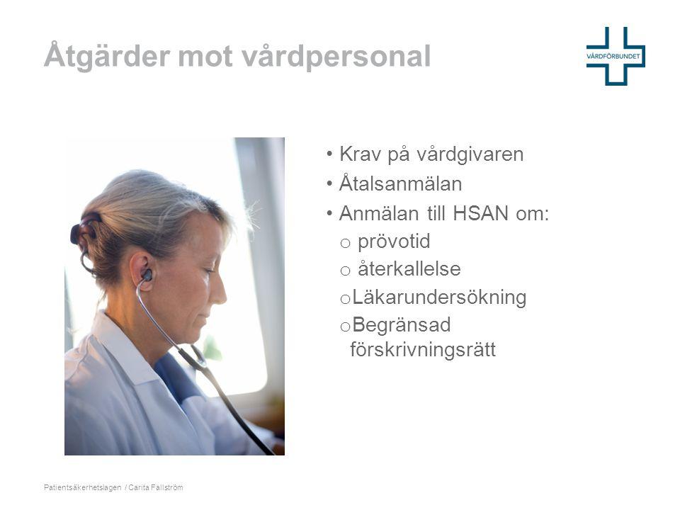Åtgärder mot vårdpersonal