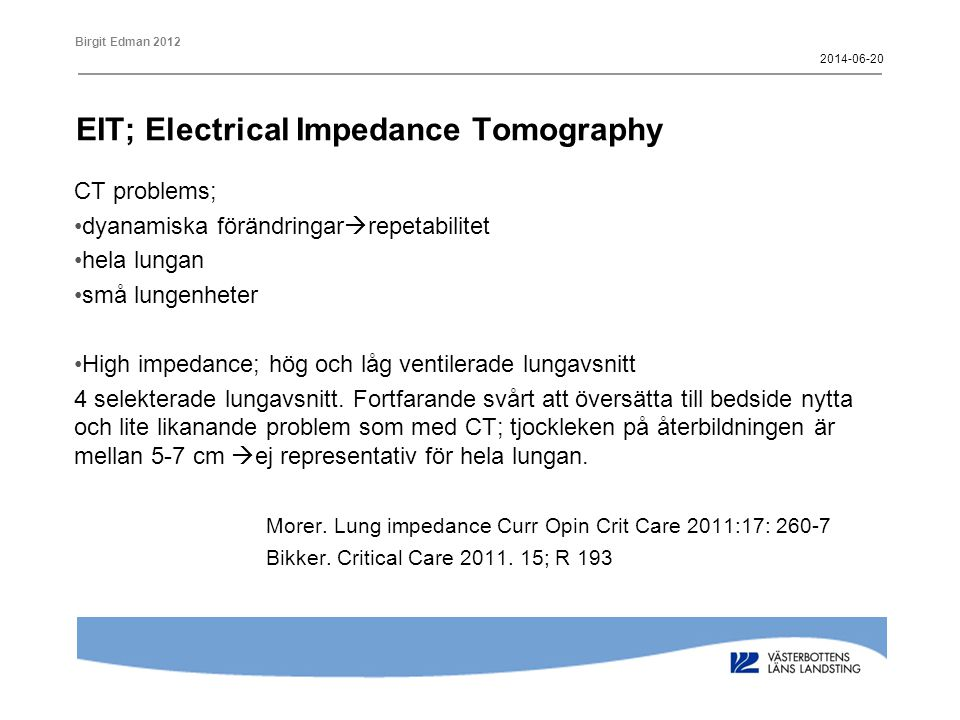 EIT; Electrical Impedance Tomography