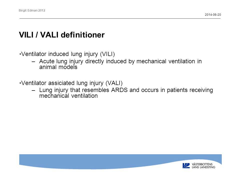 VILI / VALI definitioner