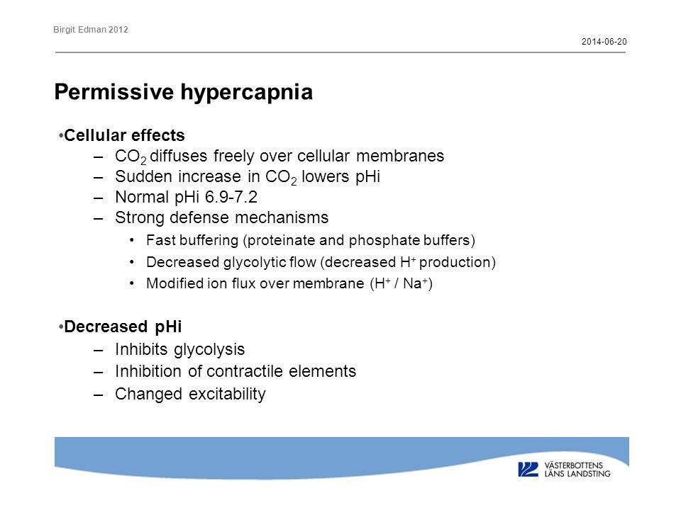 Permissive hypercapnia