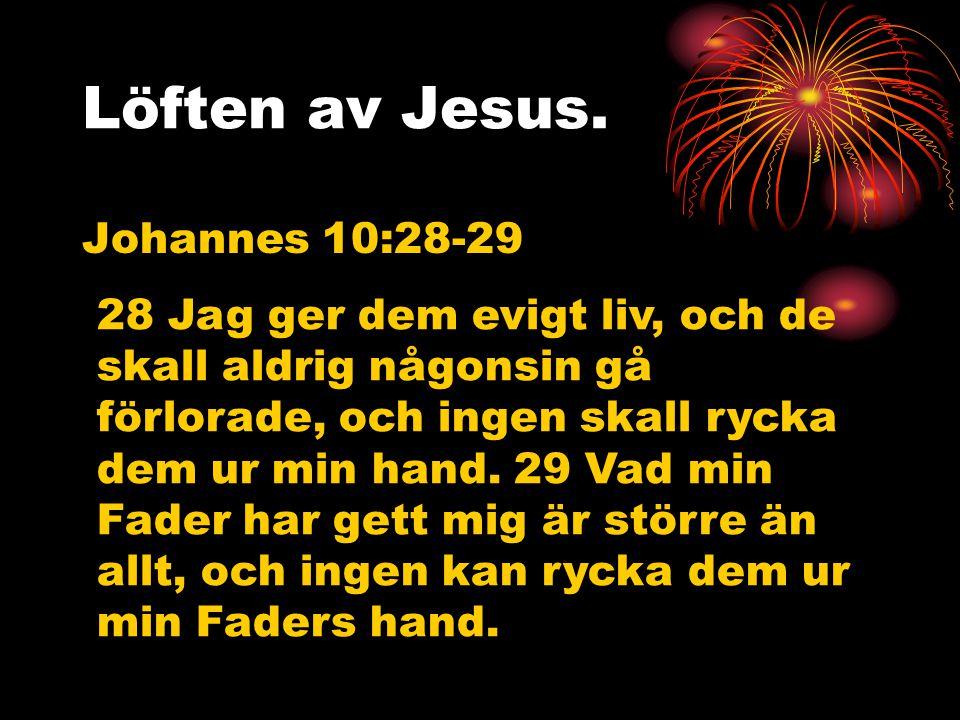 Löften av Jesus. Johannes 10:28-29