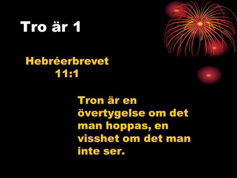 Tro är 1 Hebréerbrevet 11:1.