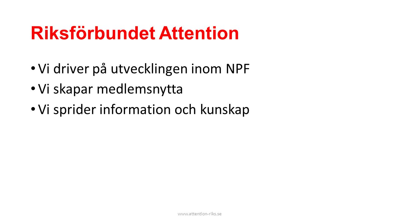 Riksförbundet Attention