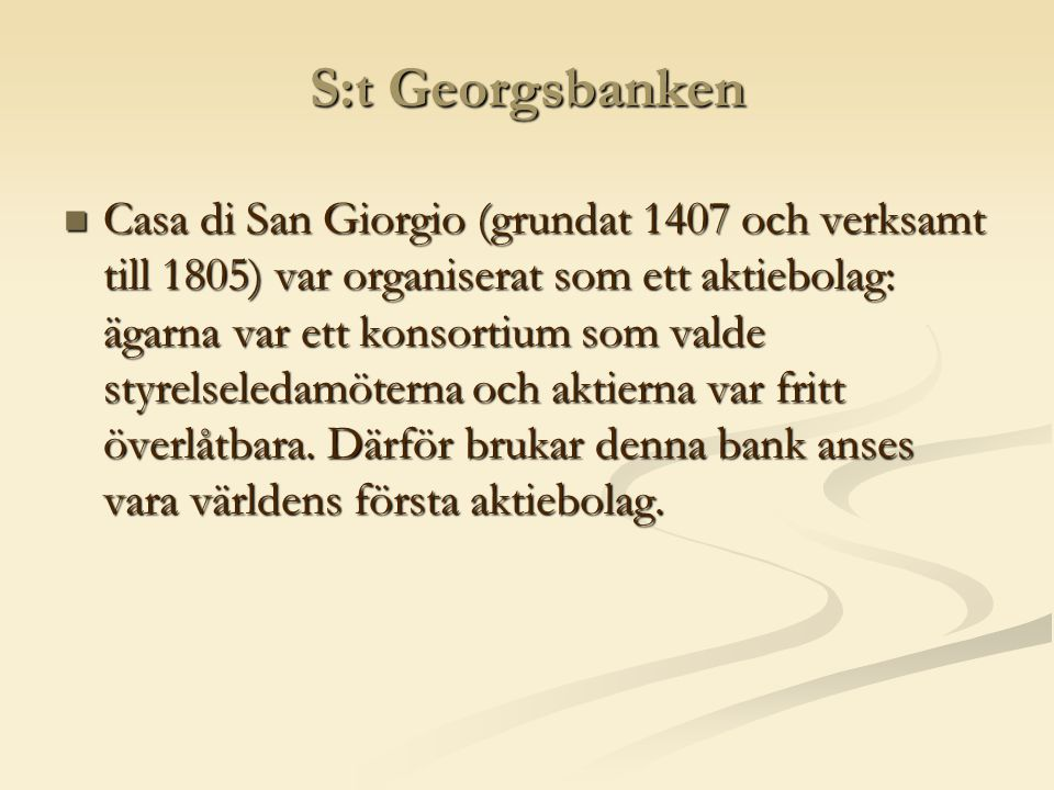S:t Georgsbanken