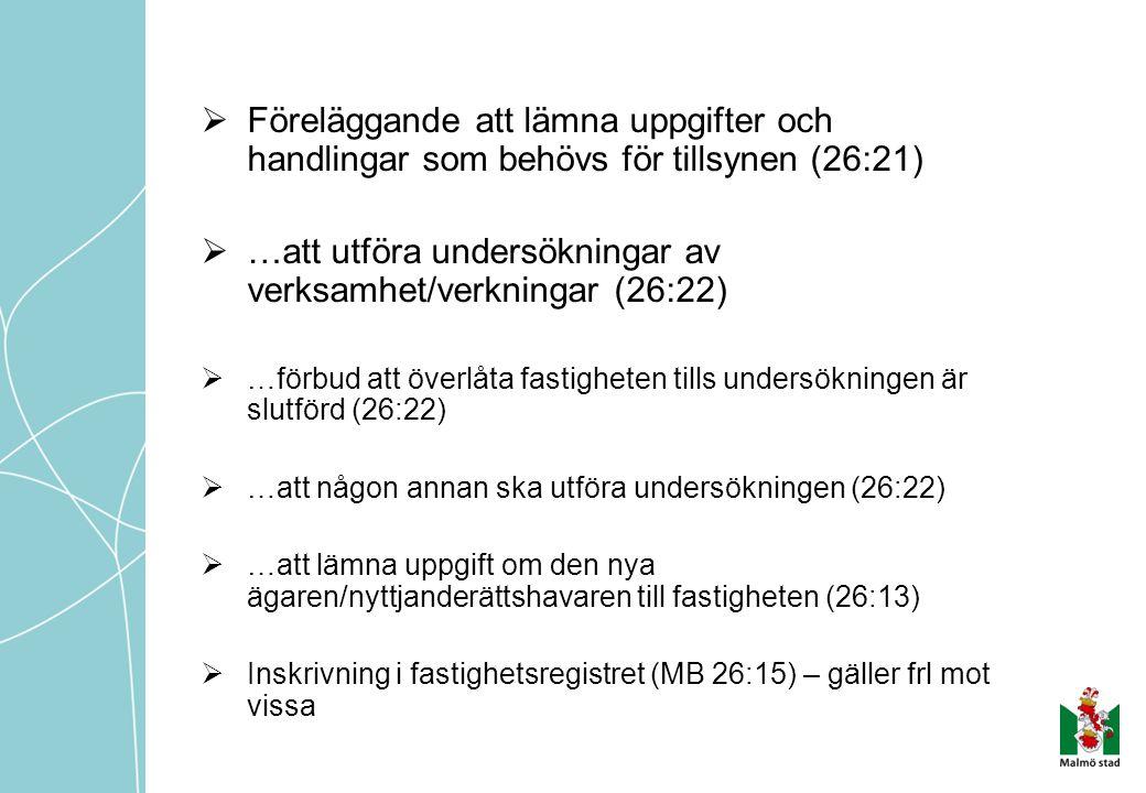 …att utföra undersökningar av verksamhet/verkningar (26:22)