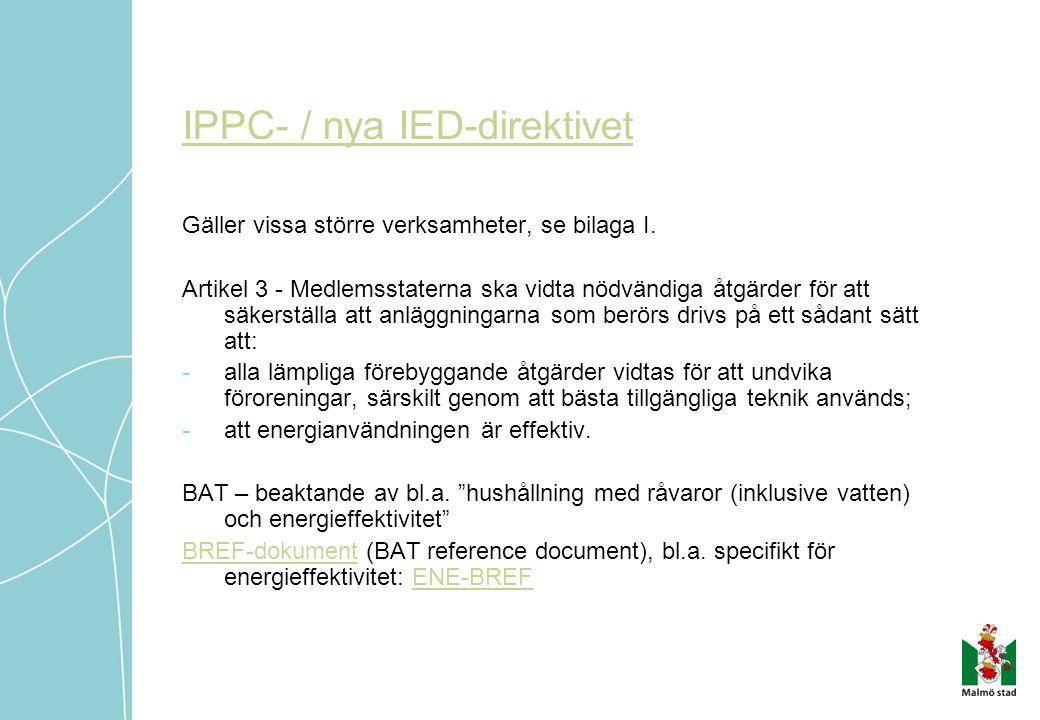 IPPC- / nya IED-direktivet