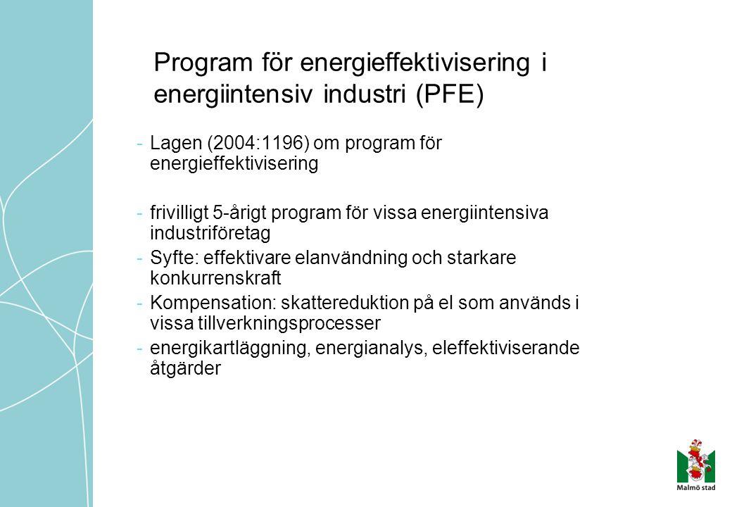 Program för energieffektivisering i energiintensiv industri (PFE)
