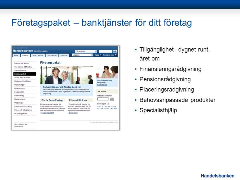 Företagspaket – banktjänster för ditt företag