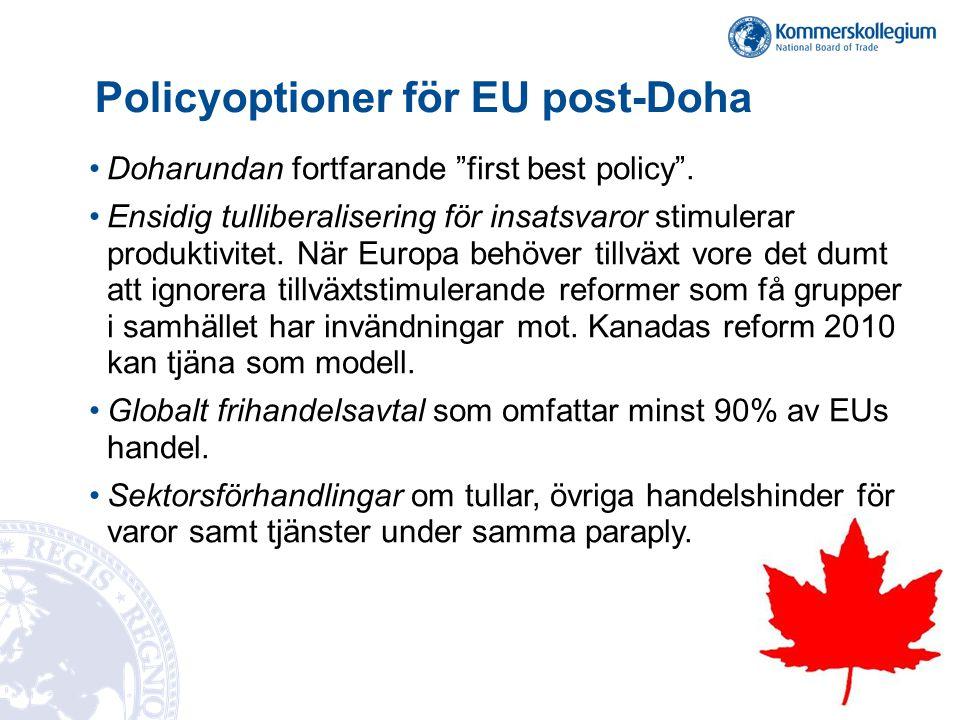 Policyoptioner för EU post-Doha