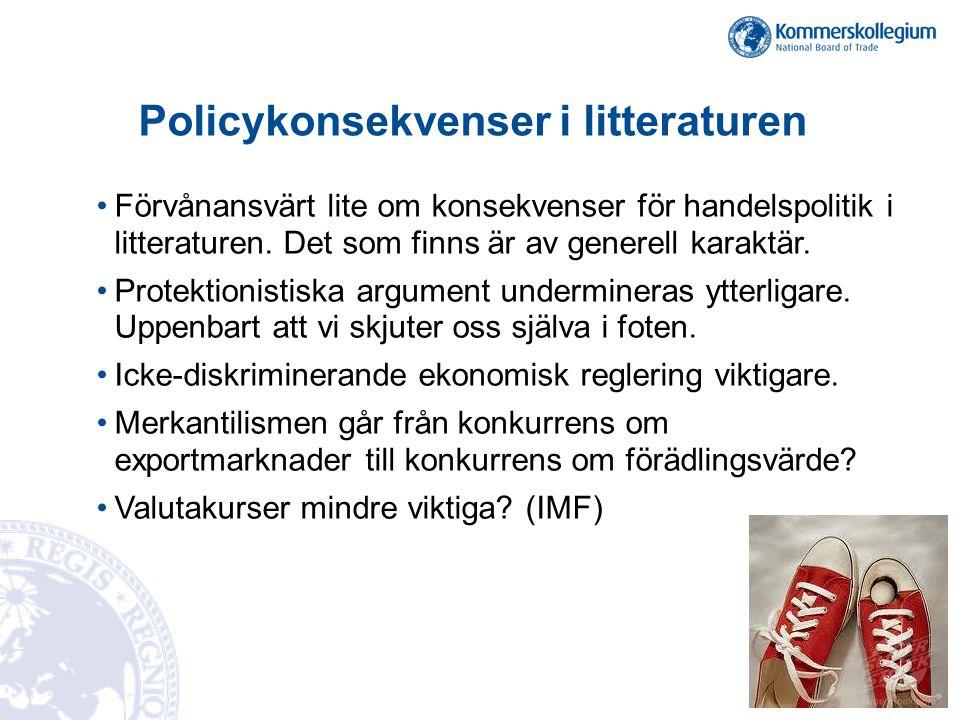 Policykonsekvenser i litteraturen
