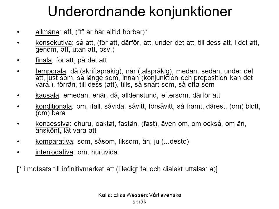 Underordnande konjunktioner
