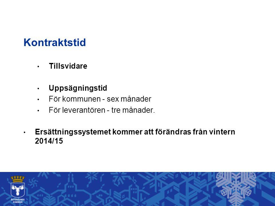 Kontraktstid Tillsvidare Uppsägningstid För kommunen - sex månader
