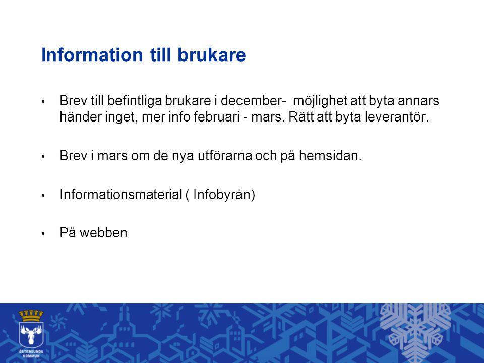 Information till brukare