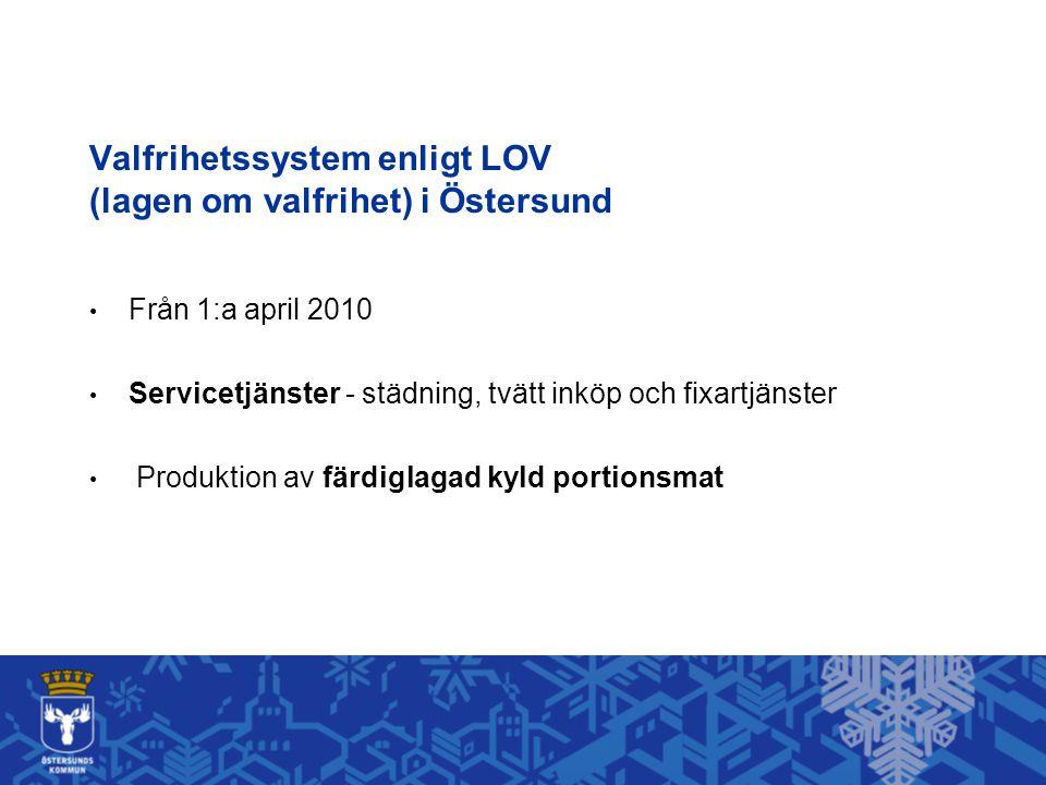 Valfrihetssystem enligt LOV (lagen om valfrihet) i Östersund