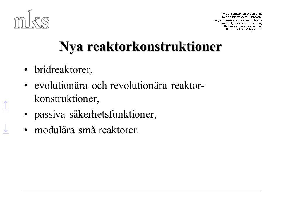 Nya reaktorkonstruktioner