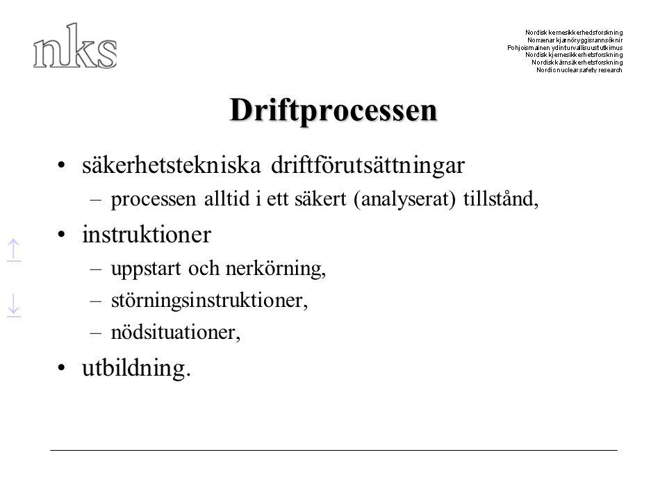 Driftprocessen säkerhetstekniska driftförutsättningar instruktioner