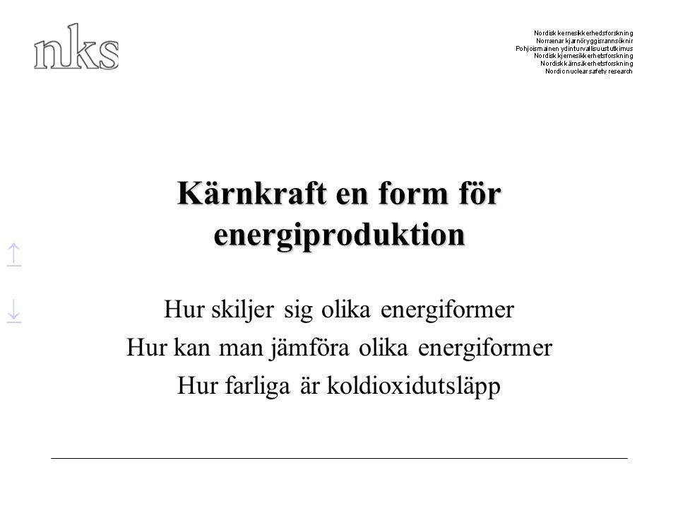 Kärnkraft en form för energiproduktion
