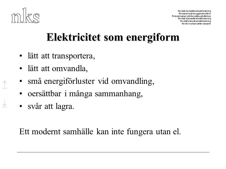 Elektricitet som energiform