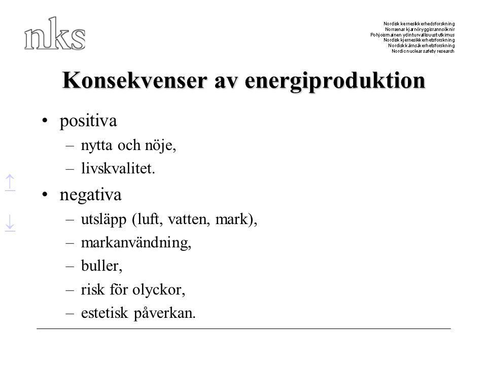Konsekvenser av energiproduktion