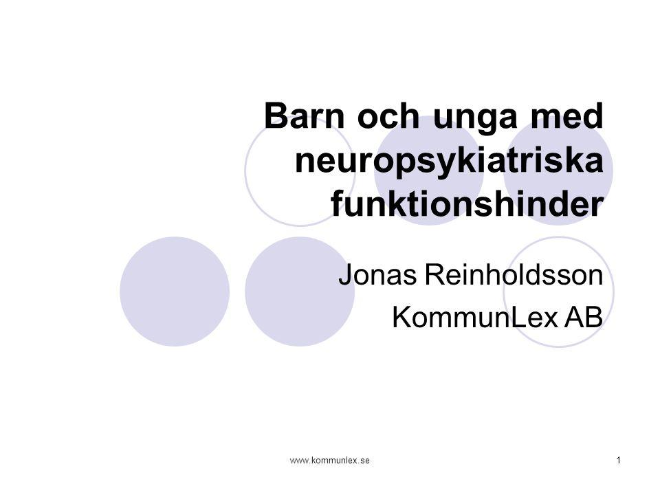 Barn och unga med neuropsykiatriska funktionshinder