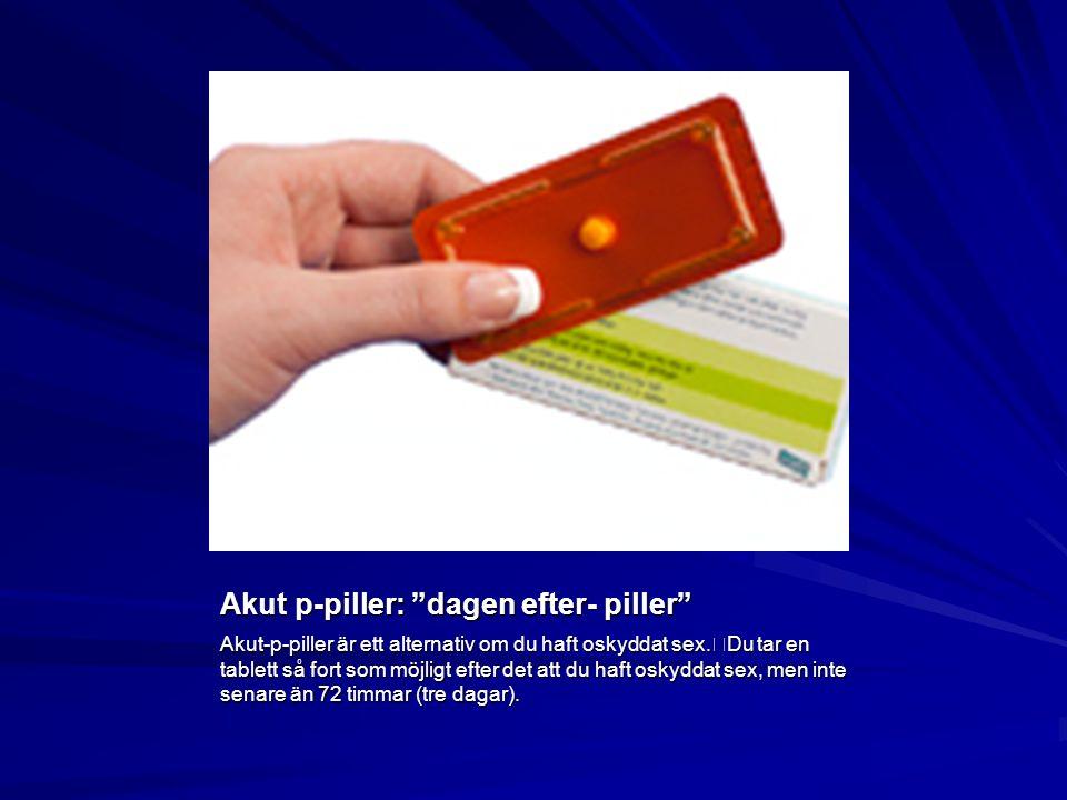 Akut p-piller: dagen efter- piller