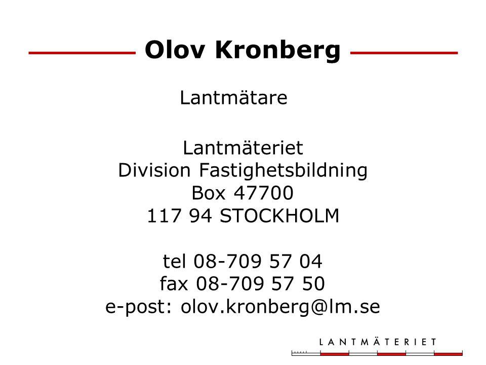 Olov Kronberg Lantmätare