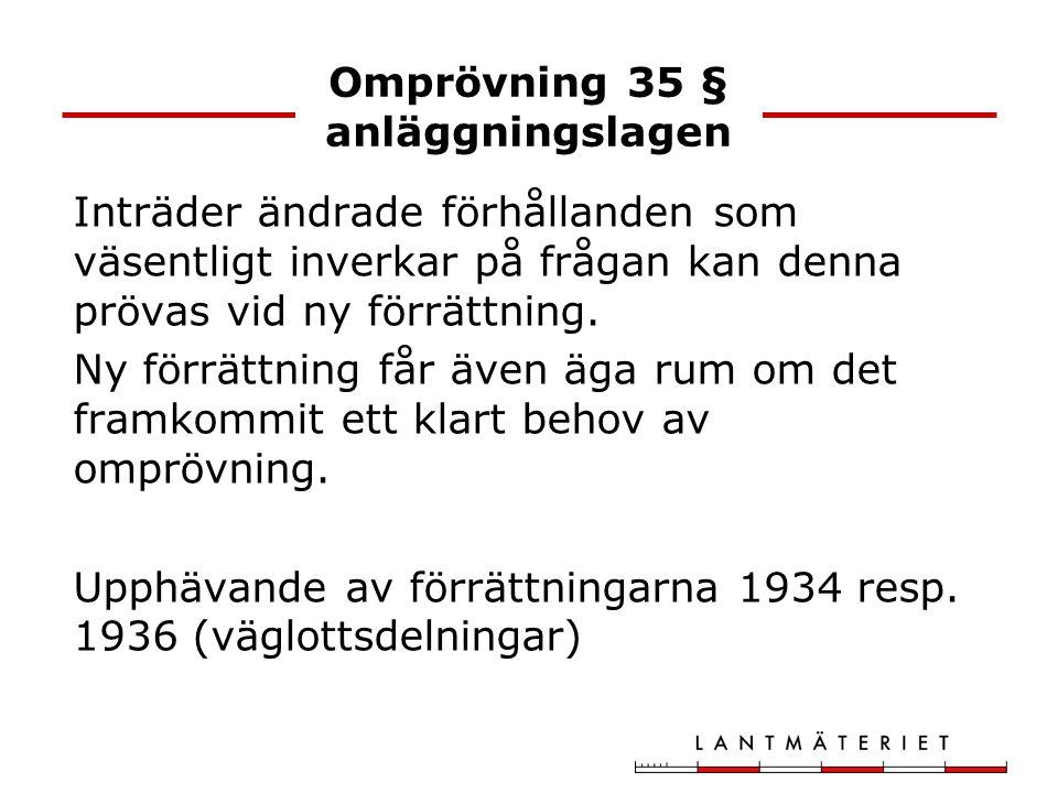 Omprövning 35 § anläggningslagen