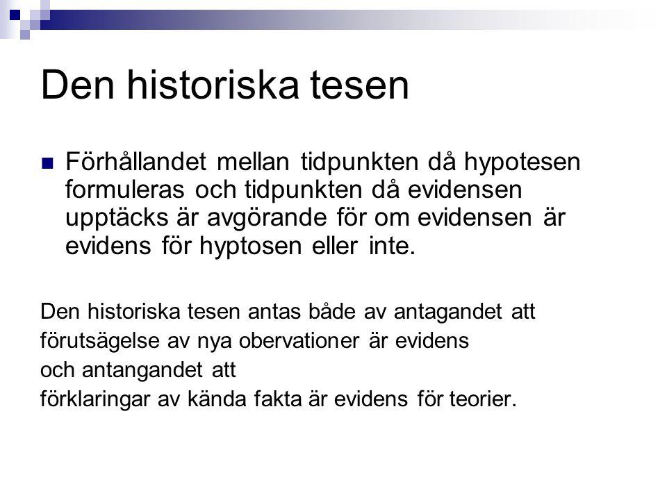 Den historiska tesen