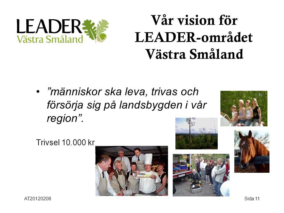 Vår vision för LEADER-området Västra Småland