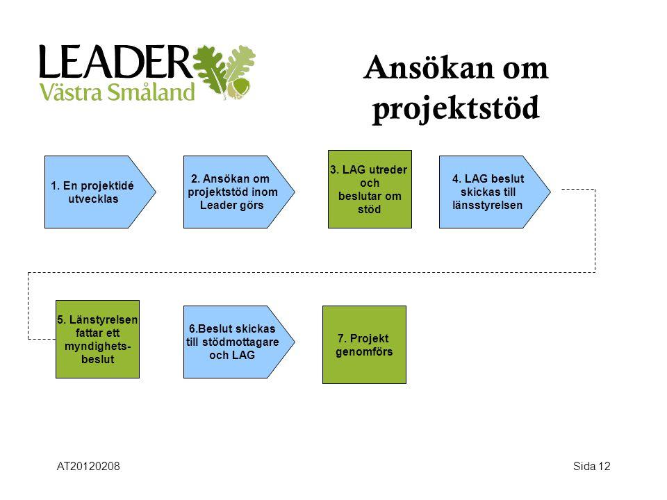 Ansökan om projektstöd