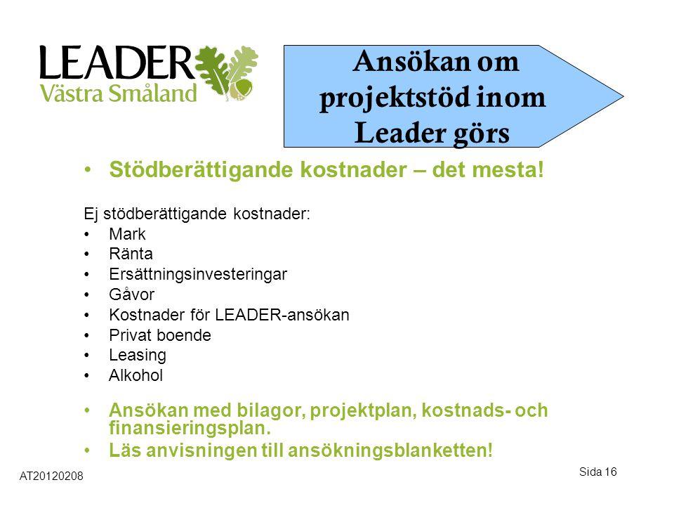 Ansökan om projektstöd inom Leader görs