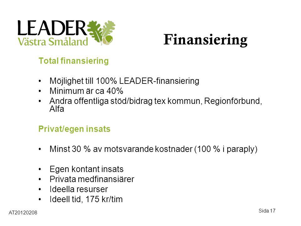 Finansiering Total finansiering