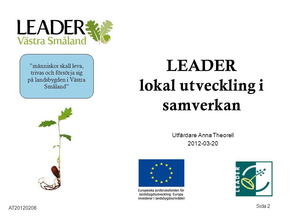 LEADER lokal utveckling i samverkan